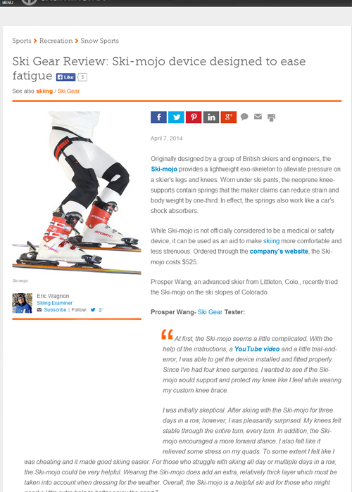 Ski~Mojo review Examiner.com website