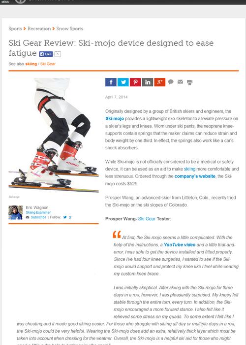 Ski~Mojo review Examiner.com website