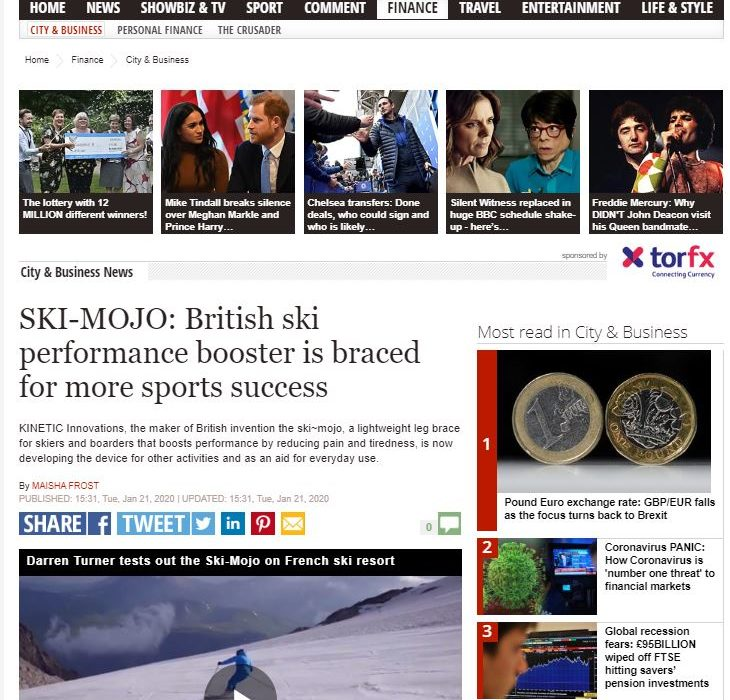 daily express ski mojo mention