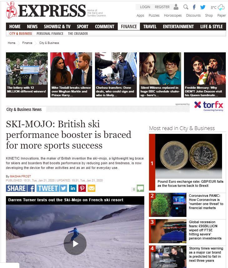 daily express ski mojo mention
