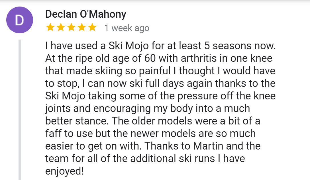 mahony ski mojo review